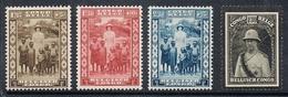 CONGO BELGE N°194 A 196 ET184 N* - Belgisch-Kongo