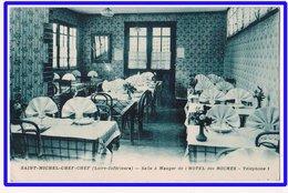 21484  Cpa  SAINT MICHEL CHEF CHEF : Hôtel Des Roches !! Salle à Manger !  1939 !!  Joli Bleuté !! - Saint-Michel-Chef-Chef