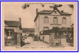 21485  Cpa  SAINT MICHEL CHEF CHEF : Hôtel Des Roches !!  Vue Sur La Mer !! à 50 M Des Plages !! 1939 !! - Saint-Michel-Chef-Chef