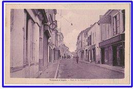 21491  Cpa   VALENCE D'AGEN  : Rue De La République !! 1949 !! - Valence