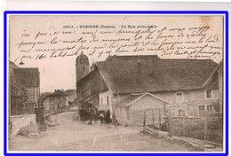 21495  Cpa  OUHANS  : La Rue Principale !!  Jolie Carte !! - France