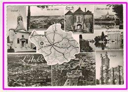 23067   Cpm  Carte Géographique Département De L'Aube !! Carte Photo !!   ACHAT DIRECT  !! - France