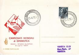 ITALY  INTL.  GYMNASTICS  CHAMPIONSHIPS  1954 - Gymnastics