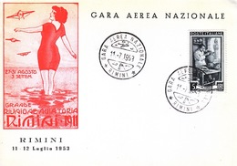 ITALY  RIMINI  AIR  RACES   1953 - 6. 1946-.. Republic