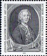 Berlin Poste N** Yv:415 Mi:454 Johann Joachim Quantz Flutiste (Thème) - Musique