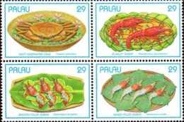 Palau Poste N** Yv: 539/542 Crustacés - Palau