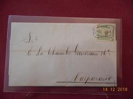Lettre Du Perou De 1873 A Destination De Valparaiso - Peru