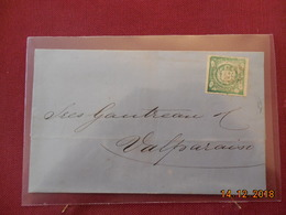 Lettre Du Perou De 1876 A Destination De Valparaiso - Peru
