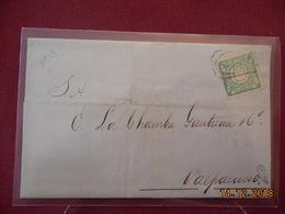 Lettre Du Perou De 1873 A Destination De Valparaiso - Pérou