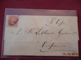 Lettre Du Chili De 1875 A Destination De Valparaiso - Chile