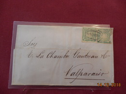 Lettre Du Perou De 1874 A Destination De Valparaiso - Pérou