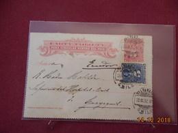 Carte Lettre (demi) Du Chili De 1892 - Chile