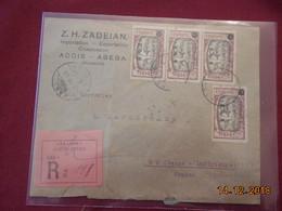 Lettre D Ethiopie De 1926 En Recommande Pour La France - Ethiopie