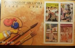 O) 1999 SRI LANKA, DAVID PAYNTER -JUSTIN DARANIYAGALA-IVAN PERIES-SOTIAS MENDIS, PAINTINGS-BALANGODA ANANDA-MAITREYA-BUD - Sri Lanka (Ceylon) (1948-...)