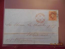 Lettre Du Chili De 1861 Pour Valparaiso - Chile