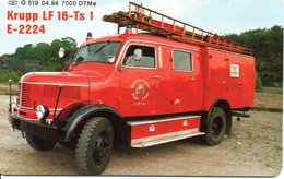 Pompier Fire Camion Brigade Feuerwehr Timbre Stamp  Télécarte Allemagne Phonecard (G 601) - Pompiers