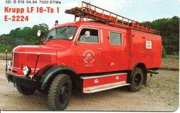 Pompier Fire Camion Brigade Feuerwehr Timbre Stamp  Télécarte Allemagne Phonecard (G 601) - Bomberos