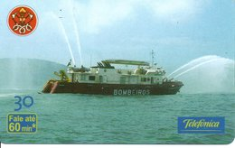 Pompier Fire Brigade Feuerwehr Bâteau Boat Télécarte  Phonecard (G 602) - Firemen