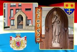 Postcard, REPRODUCTION , Communities Of Luxembourg, Lintgen Duplex 6 - Cartes Géographiques