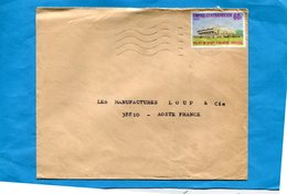MARCOPHILIE- EMPIRE CENTRAFRICAIN-lettre   >Françe-cad-1978- -stamp N°341 Palais Des Sports BOKASSA - Central African Republic