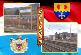 Postcard, REPRODUCTION , Communities Of Luxembourg, Lintgen Duplex 7 - Cartes Géographiques