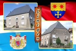 Postcard, REPRODUCTION , Communities Of Luxembourg, Lintgen Duplex 10 - Cartes Géographiques