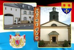Postcard, REPRODUCTION , Communities Of Luxembourg, Lintgen Duplex 11 - Cartes Géographiques