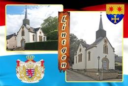 Postcard, REPRODUCTION , Communities Of Luxembourg, Lintgen Duplex 12 - Cartes Géographiques