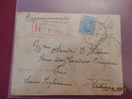 Lettre De Belgique De 1917 Pour La France En Recommande (Poste Militaire) - Postmark Collection