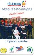 Pompier Fire Brigade Feuerwehr - Carte-forfait Téléphone Card Luxe (G 609) - Firemen