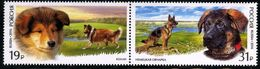 Russia 2016 Pair World Dog Show Moscow Dogs Animals Fauna Mammals German Scottish Shepherd Colli Breed Farm Stamps MNH - 1992-.... Federation