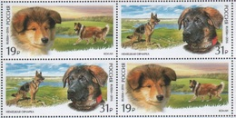 Russia 2016 Block World Dog Show Moscow Dogs Animals Fauna Mammals German Scottish Shepherd Colli Breed Farm Stamps MNH - 1992-.... Federation