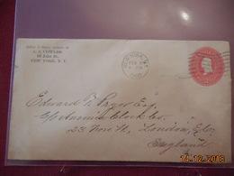 Entier Postal De 1902 Pour L Angleterre - Etats-Unis