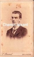 Avant 1900 - Photographie Originale D'un Homme - BRUNEL Bellinzona Suisse - CDV 60 X 100mm - Scans Recto-verso - Photographs