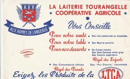 Rare Buvard La Laiterie Tourangelle Coopérative Agricole Aux Armes De Langeais - Agriculture