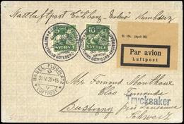 1929, Schweden, 176 I A (2), Brief - Sweden