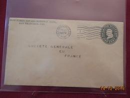 Lettre (entier Postal) Des USA De 1908 Pour La France (obliteration Interessante) - Vereinigte Staaten