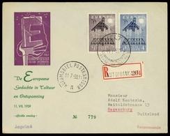 1957, Belgien, 1070-71, Brief - Belgien