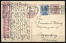 1921, Italien, P 52 A II U.a., Brief - Italien