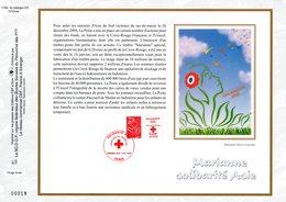 """"""" SOLIDARITE ASIE / CROIX-ROUGE """" Sur Feuillet CEF N°té En SOIE De 2005 N° 1748s N° YT 3745. Parfait état FDC - Croix-Rouge"""
