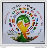 Iraq NEW 2015 Issue S/S - Dated 2014 - FIFA WORLD CUP - Football - Brasil - STAMPS ARE ROUND DESIGN - MNH - Iraq