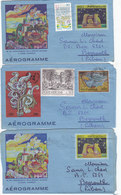 Vatican Aerogramme,Revalued X 2 ,1986-87- 3 Pieces,fine Condit.scarce- RED. PRICE - SKRILL PAY ONLY - Vatican