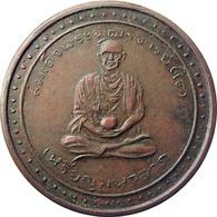 THAILAND BUDDHIST BRONZE MONK AMULET VERY FINE - Tokens & Medals