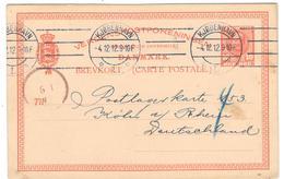 11304 - Entier  Pour L'Allemagne - 1905-12 (Frederik VIII)