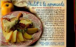 POULET A LA NORMANDE...CPM - Recettes (cuisine)