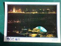 MACAU BEFORE 1999 A NIGHT VIEW FROM THE MACAU INTERNATIONAL AIRPORT - Chine
