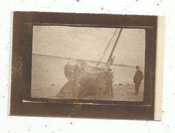 Photographie , 9 X 6.5 , Bateaux , Barques De Pêche , Saint Valéry Sur Somme, 1919, 2 Scans - Boten