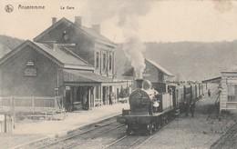 Anseremme  , La Gare  , ( Intérieur Avec Locomotive , Train ) - Dinant