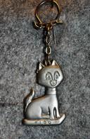 Rare Vintage Porte-clefs Années 50-60 Chat Fido - Sleutelhangers