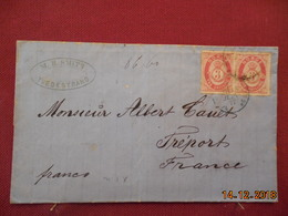 Lettre De Suede De 1877 Pour La France - Schweden
